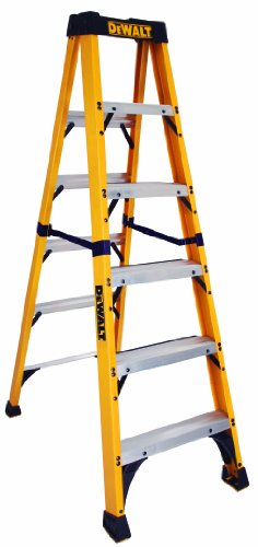 DeWalt DXL3410-06 6-Feet Fiberglass Stepladder Type IAA with 375-Pound Duty Rating, 6-Feet