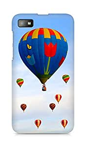 Amez designer printed 3d premium high quality back case cover for BlackBerry Z10 (Hot air balloon field)