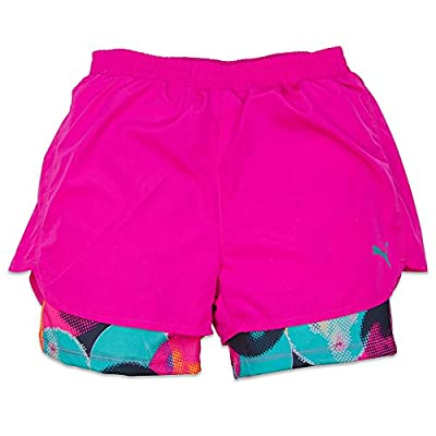 Puma Girls 4-6X and 7-14 Mesh Athletic Performance Running Gym Playground Shorts