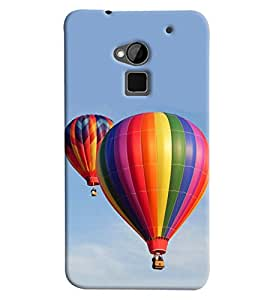 Blue Throat Hot Air Baloon Hard Plastic Printed Back Cover/Case For HTC One Max