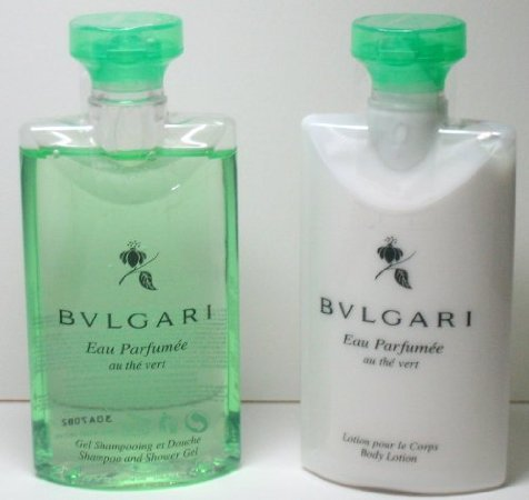Bvlgari Eau Parfumee Au The Vert (Green Tea) Lotion & Shower Gel Set - 2.5 Oz (2-Pack)