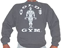 G801 Golds Gym Sweatshirt TO logo (XXL, Charcoal)