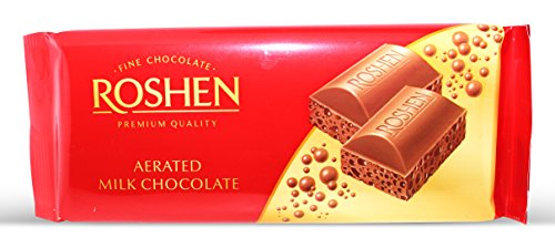 Roshen, Milk Aerated Extra Chocolate 100gr Bar (4 pcs) (Roshen Chocolate Bar compare prices)