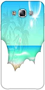 Snoogg abstract summer background Hard Back Case Cover Shield ForSamsung Galaxy E7