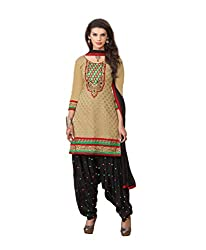 Banorani Women Lemon Yellow & Black Color Jacquard & Cotton Casual,Trendy,Wedding,Party,Festive,Office ,Lace, Embroidered & Unstitched Salwar Suit Dress Material