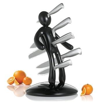 THE EX Kitchen Knife Set by Raffaele Iannello, Black