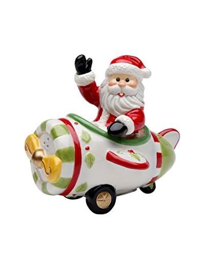 Cosmos Santa in Plane Salt & Pepper Set