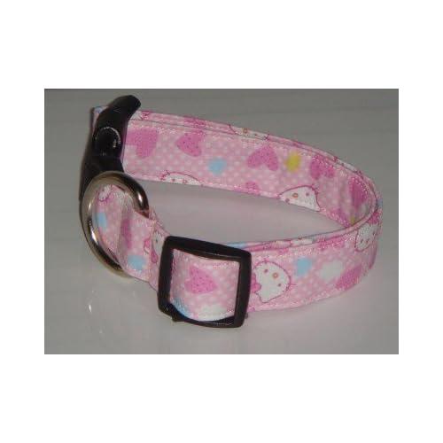 Hello Kitty Heart Pink Dog Collar Small 1