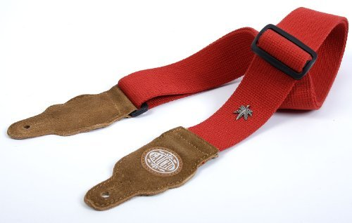 Red Guitar Strap: 'Ultra Tough' Hemp Electric/Acoustic/Electro/Bass (1.46M)