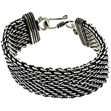 Traditional And Ethnic Oxidised Jewellery Link Bracelet,Indian Fashion,Birthday Gifts For Men
