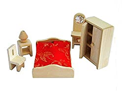 Lovely House Toys Kids Play Toys Games Wooden Assembling Furniture Toys