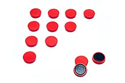 Scribble 1 Inch Whiteboard/refrigerator Magnets, Pack of 20 in Red