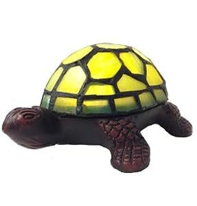 Batería 12809S 2.5 pulgadas LED Operado del vitral de la tortuga