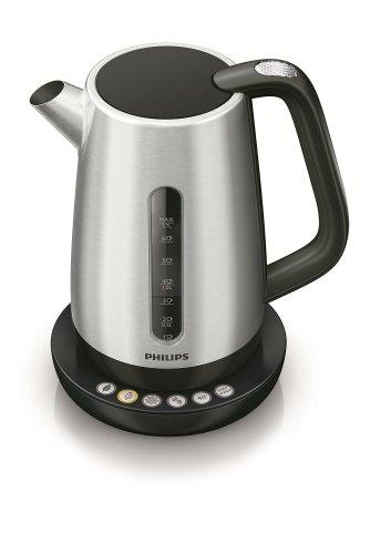 Philips HD9385/20 Wasserkocher (5 Temperatureinstellungen, 1,7 Liter, Metall)