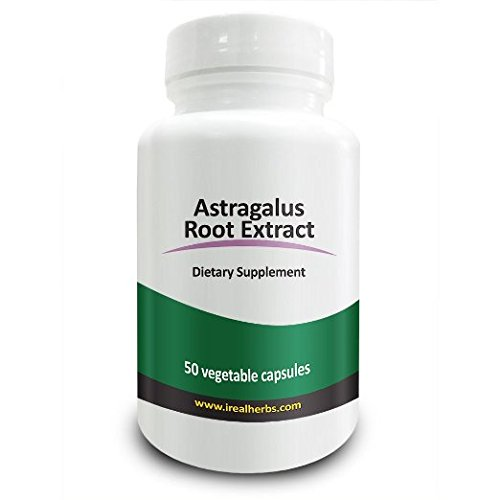Real Herbs Astragalus Root Extract - Derived from 2800mg of Astragalus Root with 4:1 Extract Strength - Promotes Cardiovascular Health, Boosts Immune Function - 50 Vegetarian Capsules (Astragalus Extract compare prices)