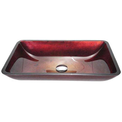Bathroom Vanities Kraus Irruption Red Rectangular
