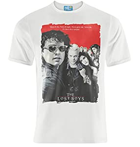 Mens Retro Cult Classic Lost Boys Movie Poster T-shirt
