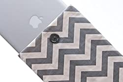 Kuzy 13-Inch Chevron Sleeve Cover for 13-Inch Macbook Pro 13-Inch MacBook Air and White MacBook - Gray/White