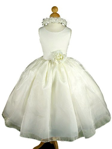 A8004d NEW Ivory Flower Girl Pageant Holiday Easter Party Wedding Dress Size 2 to 12 (4, Ivory - Your order will be shipped out on the same or next business day. Orders arrive in 3 to 5 business days.)