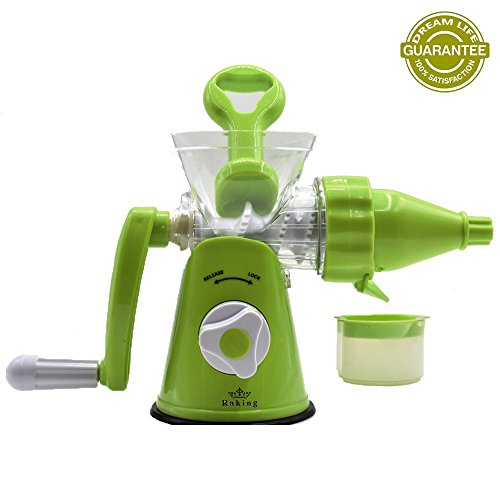 Raking® Plastic Manual Hand Single Auger Fruits Press Juicer with Suction Base (Individual Juicer compare prices)