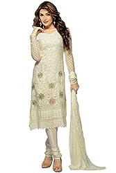 Matindra Enterprise Buy Latest Karachi Work White Chiffone Dress materials