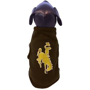 NCAA Wyoming Cowboys Sleeveless Polar Fleece Dog Sweatshirt by All Star Dogs