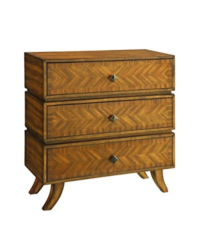 Coast to Coast Industrial Mixed Wood 3-Drawer Chest, Brown