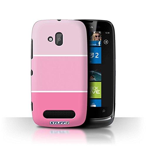 Stuff4 Hülle / Hülle für Nokia Lumia 610 / Rosa Muster / Pastell Farbton Kollektion