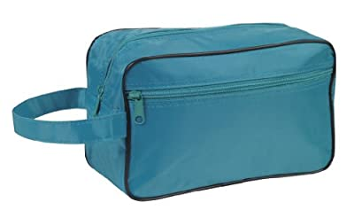 Best Cheap Deal for Toiletry Cosmetics Travel Bag, Teal by BAGS FOR LESSTM by Budget Bags Inc - Free 2 Day Shipping Available
