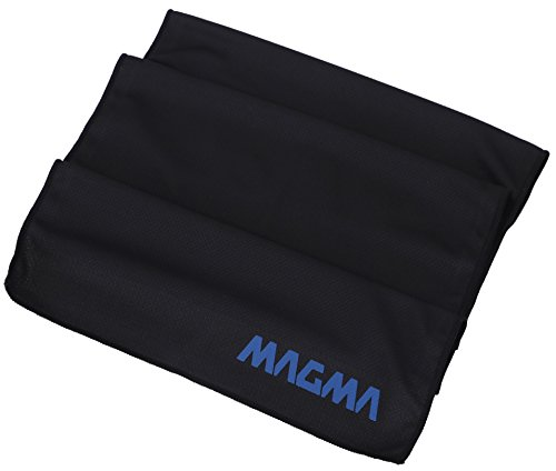 MAGMA Cooling Fitness Towel - Sweat Less - Evaporates to Stay Chill - Cold Neck Towel - Compact Travel-Friendly Tube Container,Black