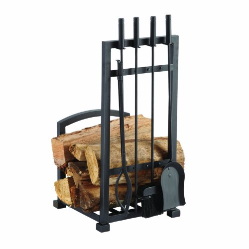 Pleasant Hearth 4 Piece Harper Fireplace Toolset with Log holder (4 Piece Fireplace Tools compare prices)