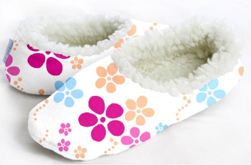 Cheap Snoozies Floral Bubble No Skid Slipper Sock Footwear (100-166P)
