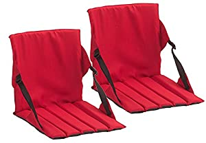 Coleman Stadium Seat,One Size,2 Pack Red from Coleman