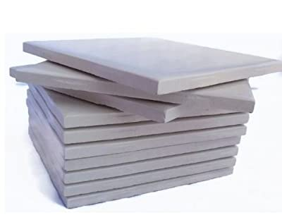 """Glossy Cream Colored (Set of 20) Ceramic Tiles 4 1/4"""" By 4 1/4"""" Each Great for Painting, Craft Projects, Mosaic Tile, Tile Projects"""