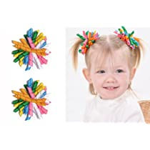 406 Set of 2 Korker Hair bow clips by My Little Legs & My Little Noggin