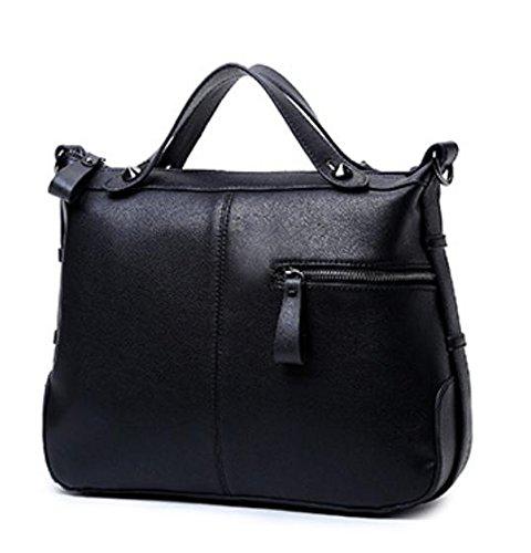GQ-WOMEN BAG 2016 nuovo giubbotto di pelle borse in pelle Messenger di moda borsa borsa a tracolla di donne di baodan , black