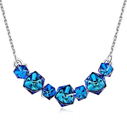 PLATO-H-Smiling-Womens-Fashion-Pendant-Necklace-with-Swarovski-Crystal-Bermuda-Blue-Cubic-18