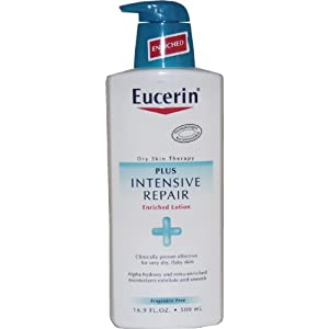 Eucerin Lotion, Intensive Repair, 16.9-Ounce Bottles (Pack of 2)