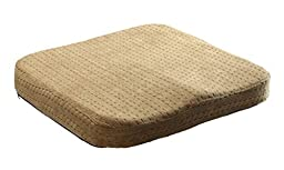 AWEN Comfortable High Quality Office Hip Shaping Slow Rebound Memory Foam Square Shape Seat Cushion/ Seat Pad/ Chair Pad/ Chair Cushion/ Office Cushion/ Car Cushion/ Stool Cushion/ Wheelchairs Pad- Size: 16\'\'*15.7\'\'*2.4\'\' (Light Tan)