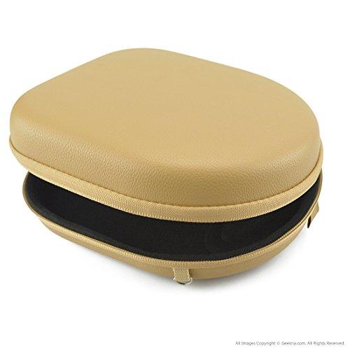 UltraShell Headphones Case for Parrot Zik, B&O PLAY by BANG & OLUFSEN BeoPlay H2, H6, H8, Bose QC3, QC25, QC2, QC15, AE2w, AE2i, AE2, SoundTrue / Hard Carrying Case / Travel Bag (Light Brown)