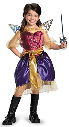 Disguise Disney's The Pirate Fairy Pirate Zarina Classic Girls Costume, Small/4-6x