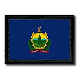 Virginia State Flag Canvas Print, Design Handcrafted Artisan Primitive Patriotic Plaque Wall Art Home Décor Office Interior Souvenir Gift Ideas, 23\