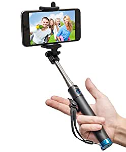 selfie stick baslo compact foldable selfie poles extendable wireless bluetooth. Black Bedroom Furniture Sets. Home Design Ideas