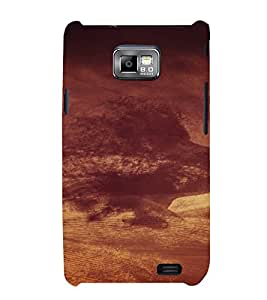 PrintVisa Cloudy Face Design 3D Hard Polycarbonate Designer Back Case Cover for Samsung Galaxy S2