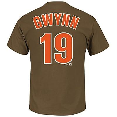 Tony Gwynn San Diego Padres 1989 Brown/Orange Majestic MLB Player Men's Brown T-Shirt