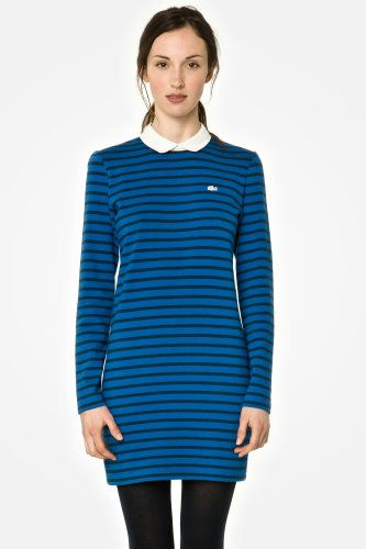 L!VE Long Sleeve Zipper Back Polo Dress