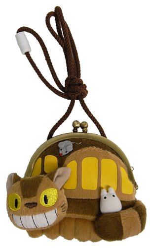 Small Totoro and Totoro Cat Bus pouch next (japan import)