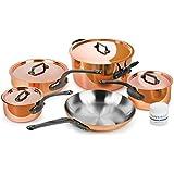 Mauviel M'heritage M250C 9-piece 2.5mm Copper Cookware Set