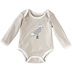 Serena & Lily Wayne Pate Seagull Bodysuit (Baby) - Grey-6-9 Months