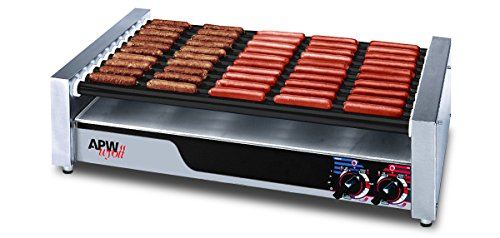 APW Wyott HRS-50S Slanted Roller Grill with Tru-Turn Surface